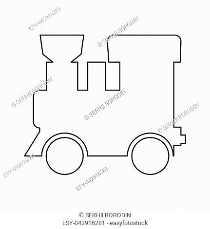 Steam locomotive - train it is black color path icon