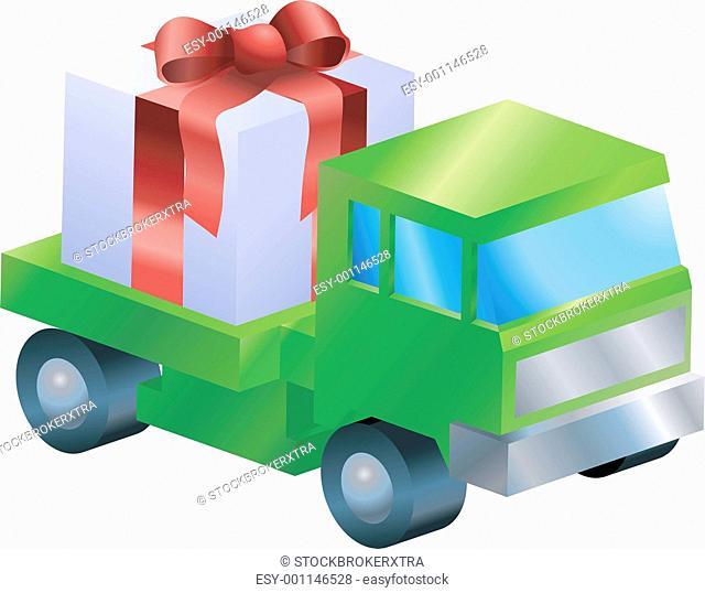 lorry truck gift illustration