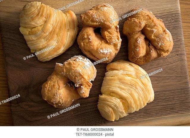 Old fashioned donuts and sfogliatella pastries