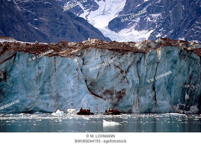 edge of Gully- and Selfstroem glacier, Greenland, East Greenland, Groenland Nationalpark, Tunu