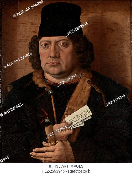 Portrait of Alexander Mornauer, ca 1464-1488. Found in the collection of the National Gallery, London