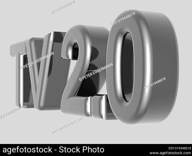 Background - Thema Kommunikation - TV 2.0 - 3D