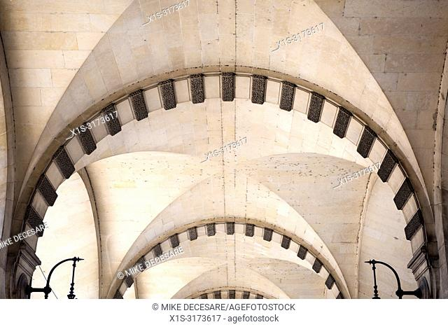 Across Paris there are buildings and arches constructed of stone blocks hundreds of years ago