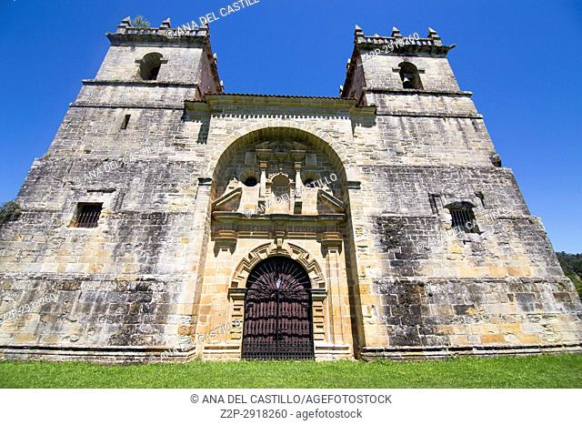 Collegiate church in Ciguenza Cantabria Spain