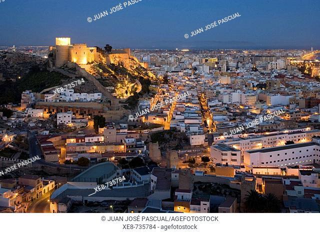 Alcazaba Muslim fortress, Almeria. Andalucia, Spain