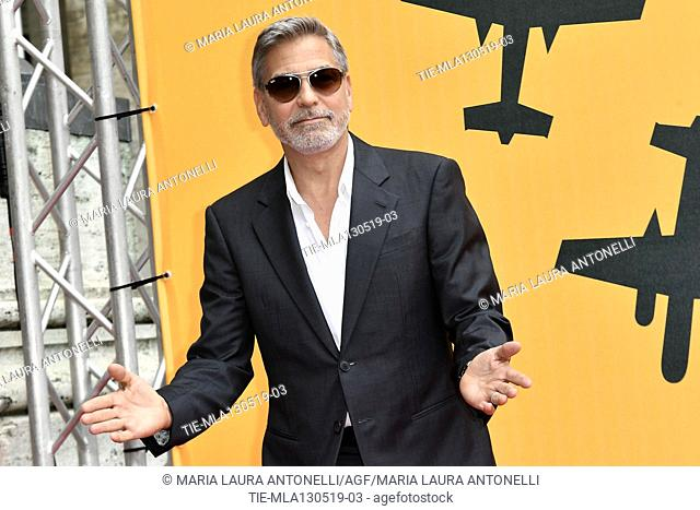 George Clooney during the photocall of fillm tv Catch-22, Rome, ITALY-13-05-2019