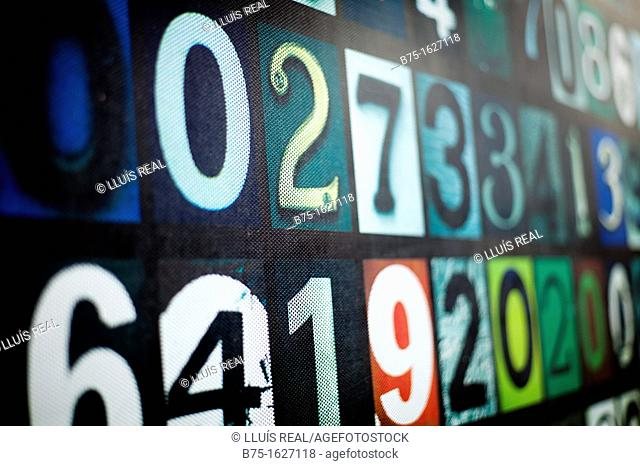 graphics of many numbers