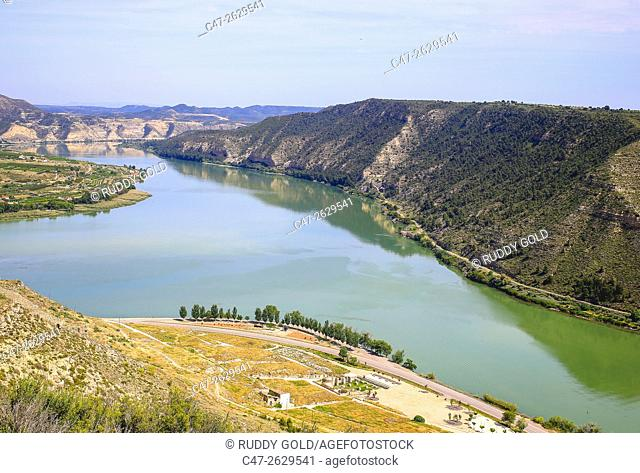 Spain. Aragón. Zaragoza. Mequinenza town on Ebro river