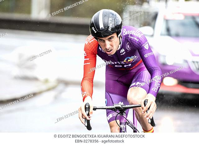 Jesus Ezquerra Muela at Zumarraga, at the first stage of Itzulia, Basque Country Tour. Cycling Time Trial race