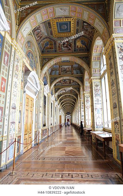 Saint Petersburg, Russia, Europe, Russian, Palace, Hermitage, State Museum, Winter palace, Indoor, architecture, hallw