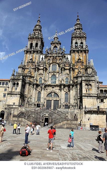 Cathedral of Santiago de Compostela, Coruña, Spain, Europe