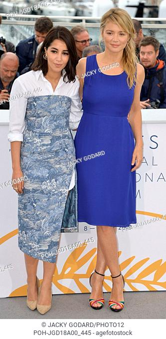 Leïla Bekhti and Virginie Efira Photocall of the film 'Le Grand Bain' (Sink or Swim) 71st Cannes Film Festival May 13, 2018 Photo Jacky Godard