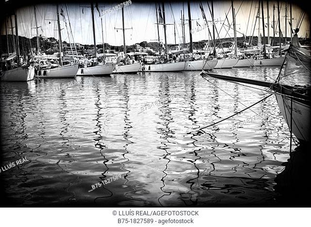 Port Mahon, Menorca. Balearic Islands, Spain, Mediterranean, vintage boats, sailboats