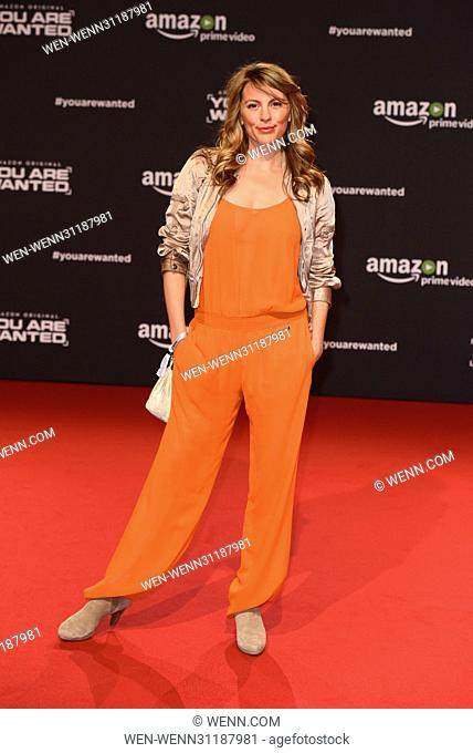 World premiere of 'You Are Wanted' Amazon original series at CineStar Sony Center at Potsdamer Platz square. - Arrivals Featuring: Luise Baehr Where: Berlin