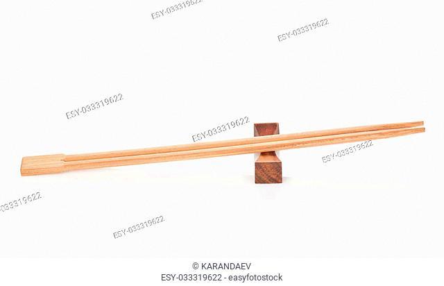Sushi chopsticks. Isolated on white background