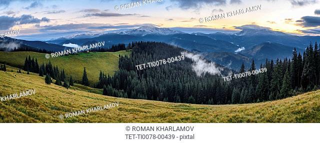 Hoverla mountain in the Carpathian Mountain Range, Ukraine
