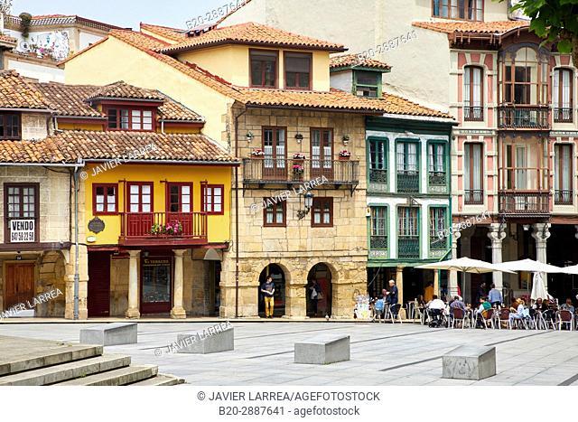 Plaza Domingo Alvarez Acebal, Calle San Francisco, Avilés, Asturias, Spain, Europe