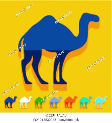 Flat design: camel