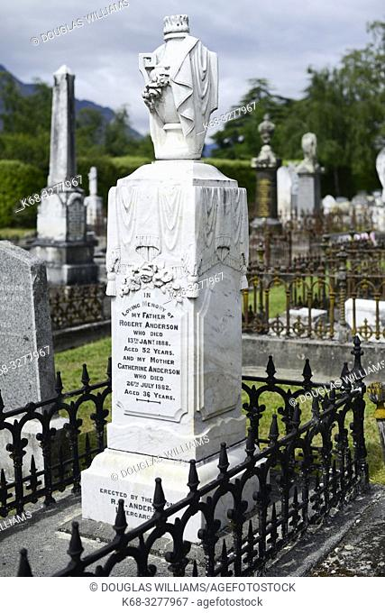 Cemetery in Queenstown, South Island, New Zealand