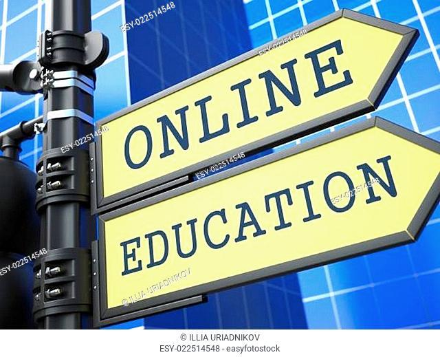 Business Concept. Online Education Sign