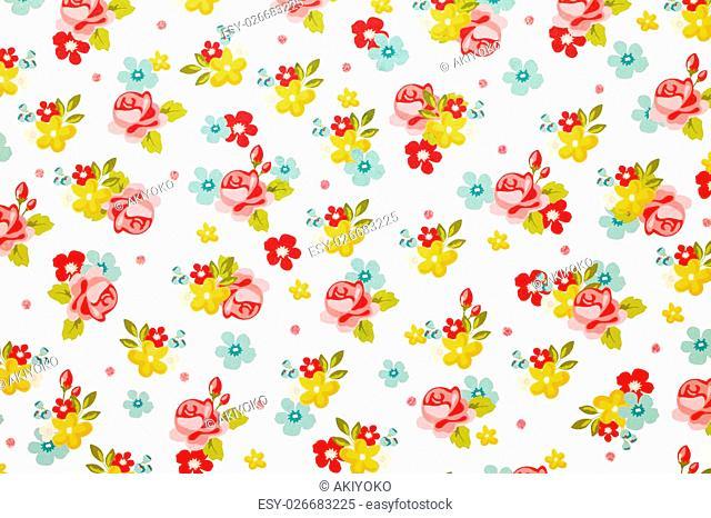 rose flower pattern paper texture background