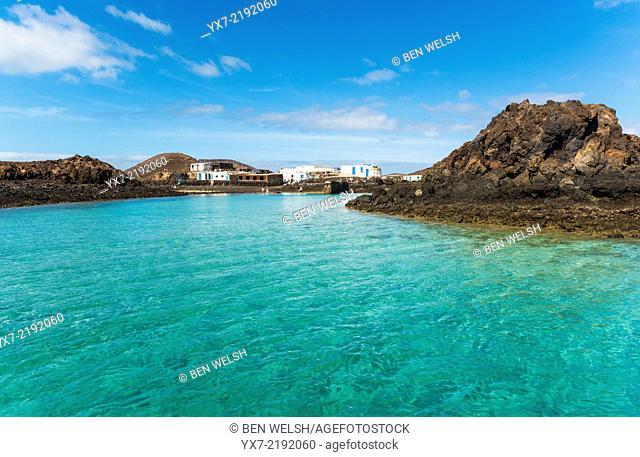 El Puertito, La Isla de Lobos, Fuerteventura, Canary Islands, Spain