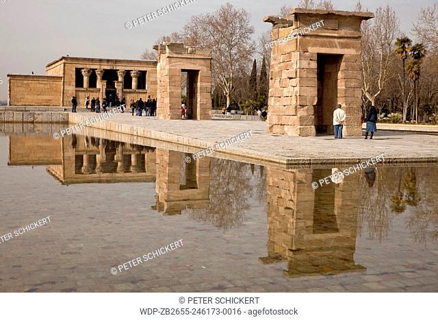 der ägyptische Tempel Templo de Debod in Madrid, Spanien, Europa | egyptian temple Templo de Debod in Madrid, Spain, Europe