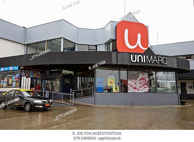 unimarc supermarket in Punta Arenas Chile