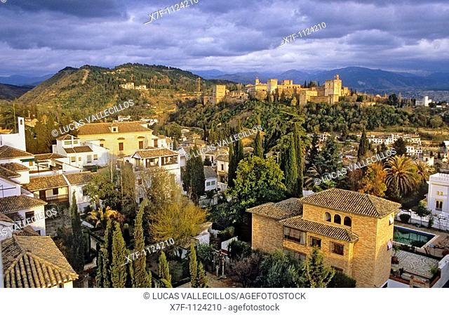 Albaicin and Alhambra, Granada  Andalusia, Spain
