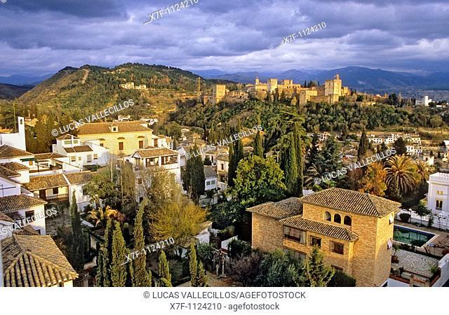 Albaicin and Alhambra, Granada  Andalusia, Spain