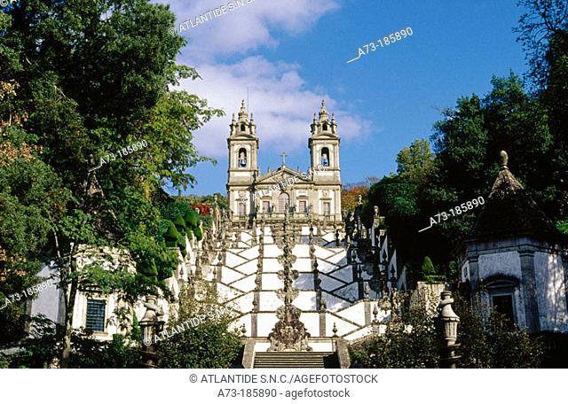 Bom Jesus do Monte sanctuary. Braga. Portugal