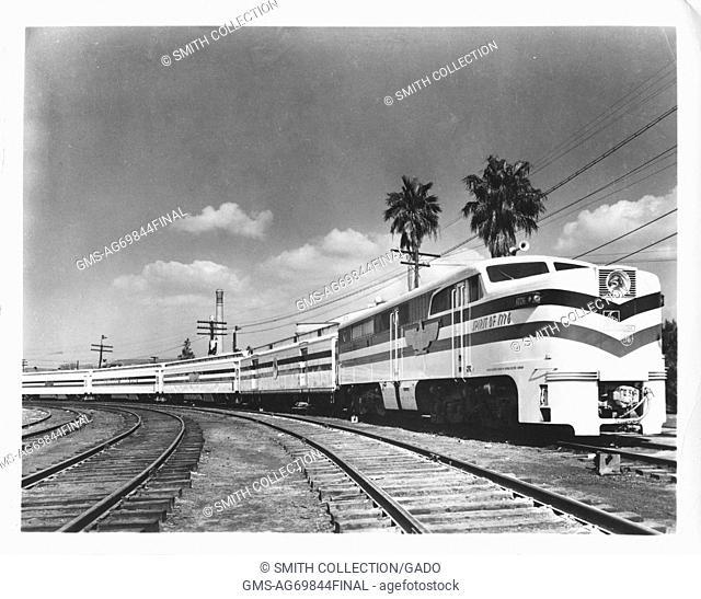 Photograph of the Freedom Train in Florida. Image courtesy National Archives, Florida, 1948