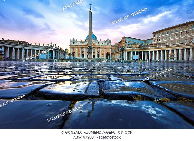 Saint Peter's Basilica and Square, Vatican City, Rome, Lazio, Italy