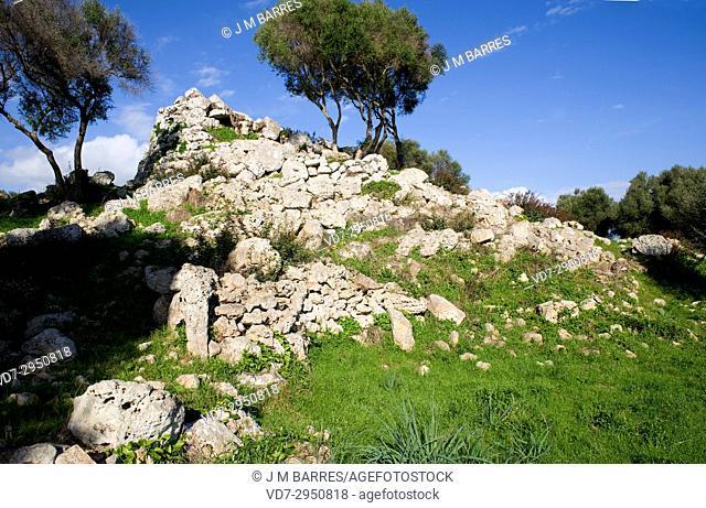 Talati de Dalt, Talaiotic age talaiot. Mao or Mahon municipality, Minorca Biosphere Reserve, Balearic Islands, Spain