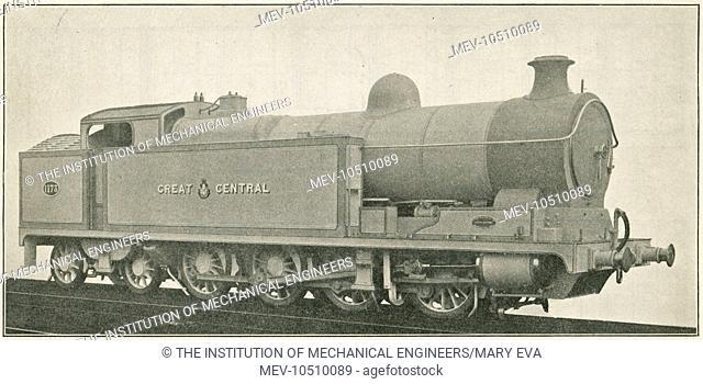Locomotive no 1173 0-8-4 three cylinder simple shunting engine