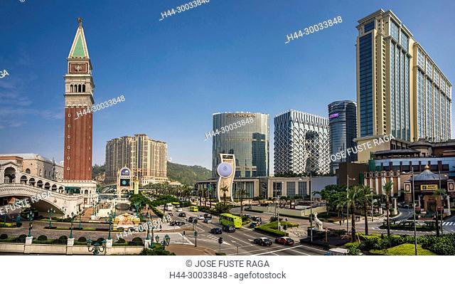 China , Macao City, Cotai Area, Strada do Istmo Avenue