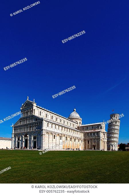 Pisa Cathedral and Famous Tower, Tuscany, Italy