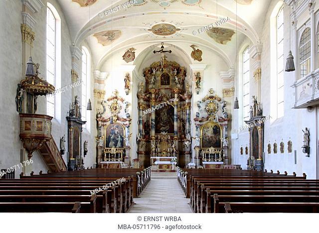 Church St. Martin Langenargen, Lake of Constance, Baden-Wurttemberg, Germany