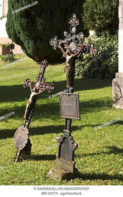 Iron crucifixed on the cemetary, Millstatt on Lake Millstatt, Carinthia, Austria