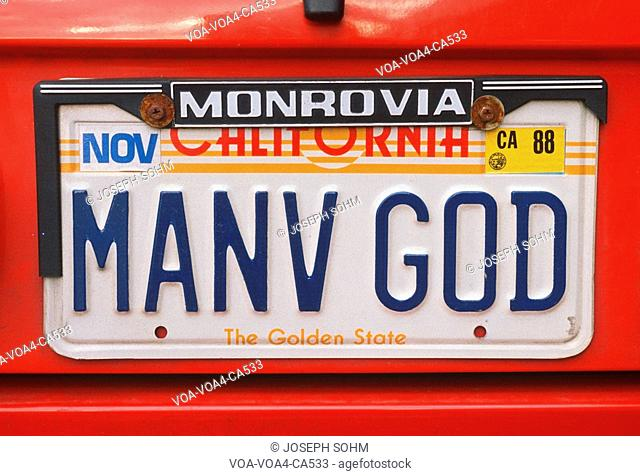 Vanity License Plate - California