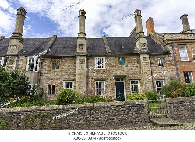 Vicars' Close in the city of Wells, Somerset, England