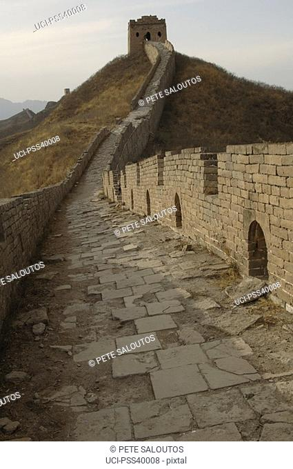 Stairs and building on Great Wall of China