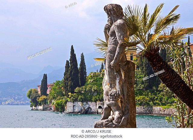 Statue, botanical garden, Villa Monastero, Varenna, Lake Como, province of Lecco, Lombardy, Italy / Lago di Como
