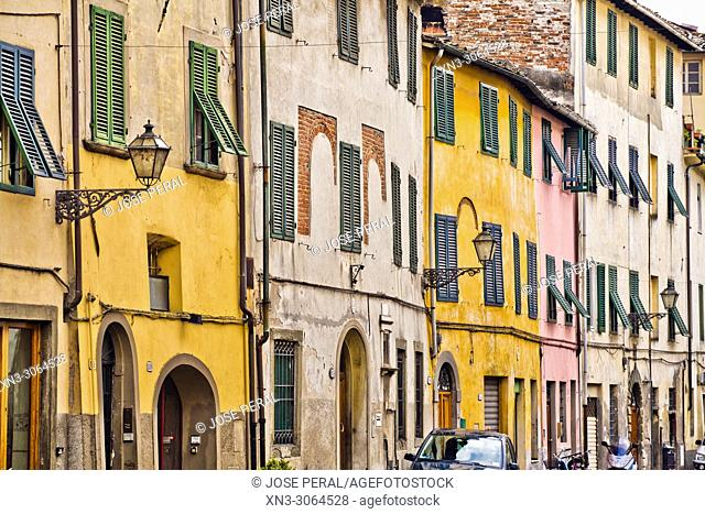 Via del Fosso street, Lucca, Tuscany, Italy, Europe