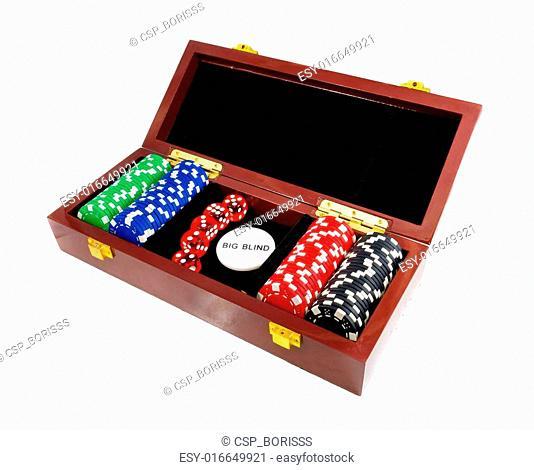 Casino chips. Photo gambling