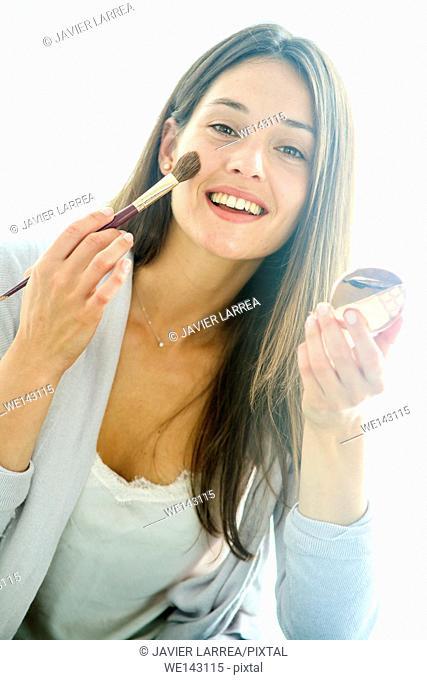 Young woman, make up