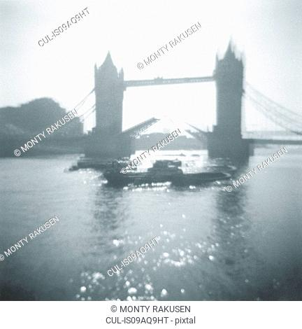 Art photograph of Tower Bridge on the River Thames in London