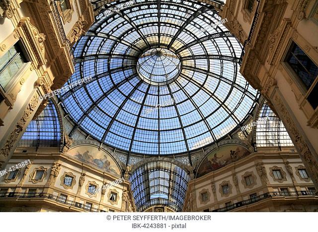 Galleria Vittorio Emanuele II, gallery, Milano, Milan, Lombardy, Lombardy, Italy