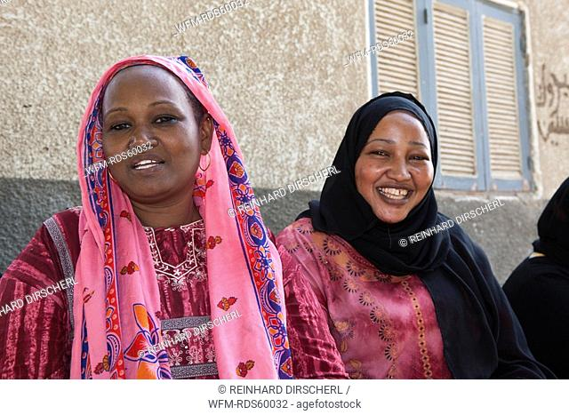 Women of Nubian Village on Elephantine Island, Aswan, Egypt