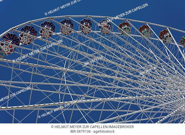"""The new """"Blumenrad"""" Ferris Wheel in the Prater, Vienna, Vienna State, Austria"""